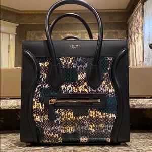 Céline Micro Luggage Python Bag